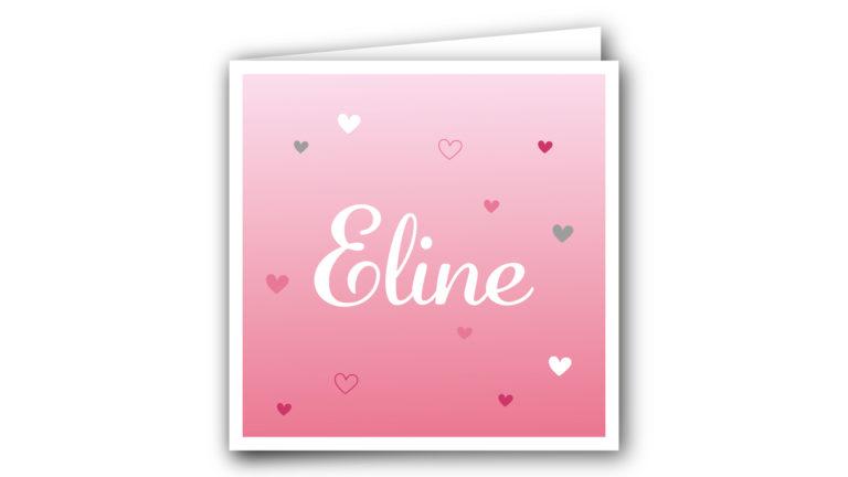 Geboortekaart Eline
