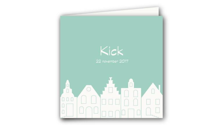 Geboortekaart Kick