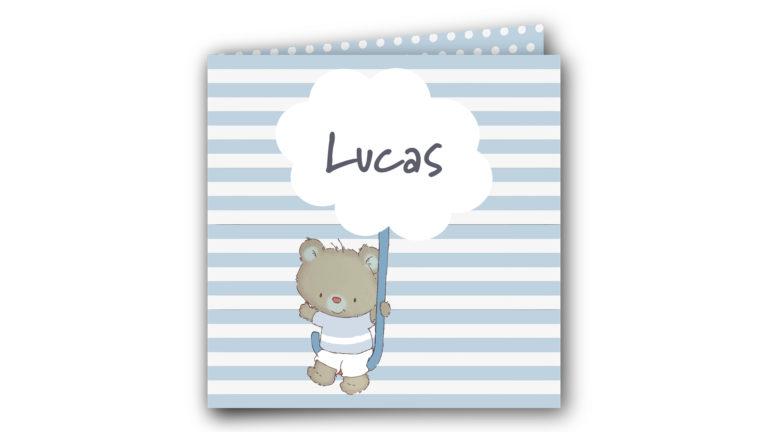 Geboortekaart Lucas