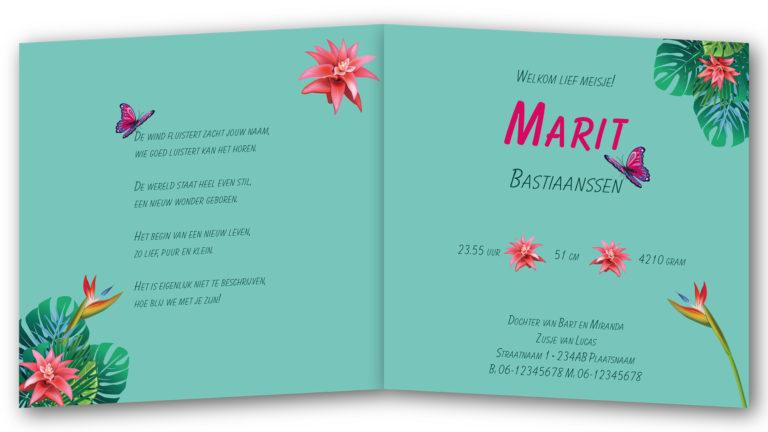 Geboortekaart Marit
