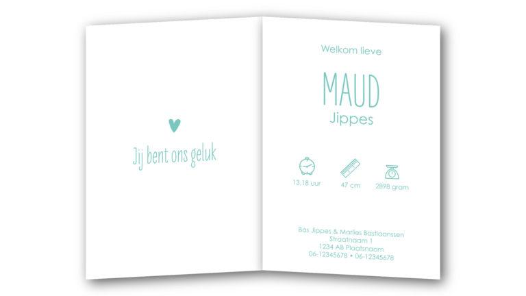 Geboortekaart Maud