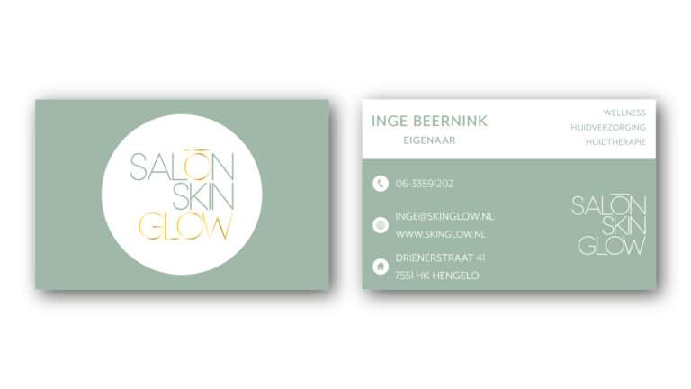 Visitekaartje Skin Glow