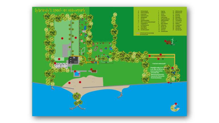 Plattegrond Speel- en Natuurpark Sybrandy's