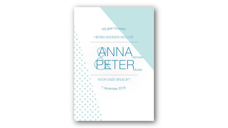Trouwkaart Anna en Peter