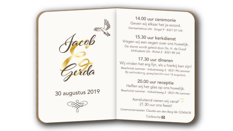 Trouwkaart Jacob en Gerda