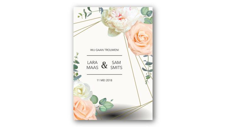 Trouwkaart Lara en Sam