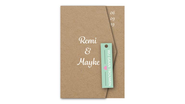 Trouwkaart Remi en Mayke
