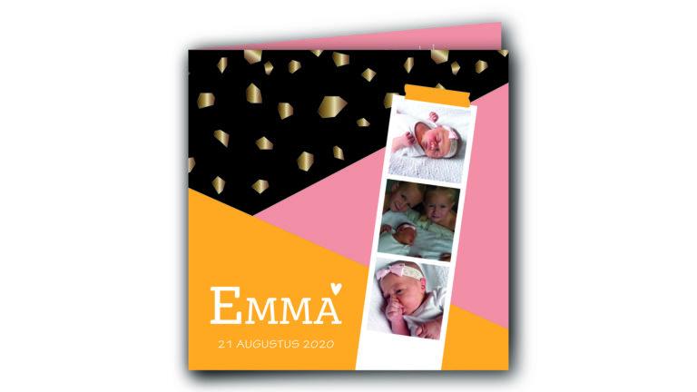 Geboortekaart Emma