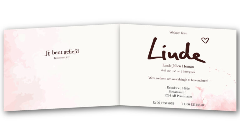 Geboortekaart Linde