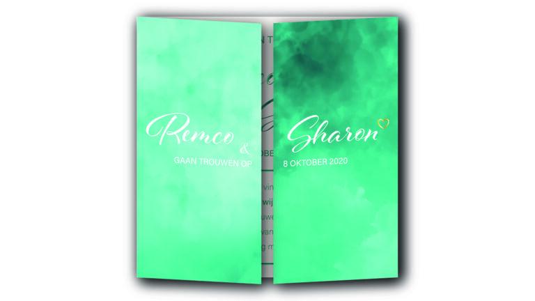 Trouwkaart Remco en Sharon