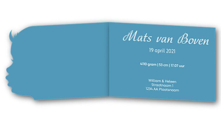 Geboortekaart Mats